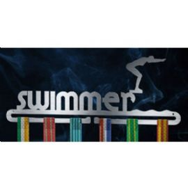 "Swimmers Medal Display - Female - 13""x5"" - stainless steel"